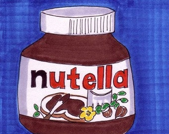 Nutella-5x7 inch Print from Original Illustration