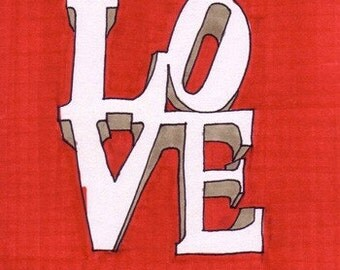LOVE-5x7 inch Print from Original Illustration