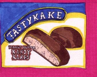 Kandy Kakes-5x7 inch Print from Original Illustration
