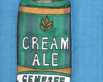 Genesee-5x7 inch Print from Original Illustration