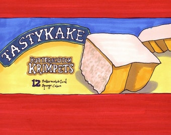 Krimpets-5x7 inch Print from Original Illustration