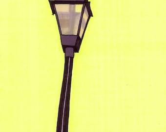 Streetlight- 5x7 Framed Original Illustration