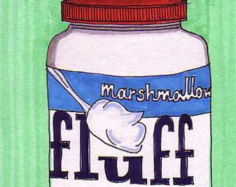 Fluff (mint green)-5x7 inch Print from Original Illustration