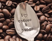 I Love Coffee & Blogs... Vintage Coffee Spoon For COFFEE and BLOG LOVERS by jessicaNdesigns