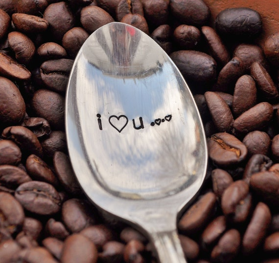 I Love You... Vintage Coffee Spoon FOR (coffee) LOVERS by jessicaNdesigns