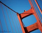 Golden Gate Bridge photo : san francisco photography bay area northern california historic red orange blue home decor 8x12 12x18 16x24 20x30