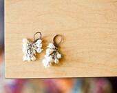Snow white Pearl cluster Earrings
