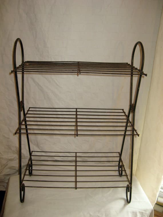 Wire Stand Mid-Century Modern Shelves