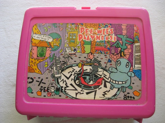 1987 Pee Wee Herman  Lunchbox Lunch Box Pee Wee's Playhouse