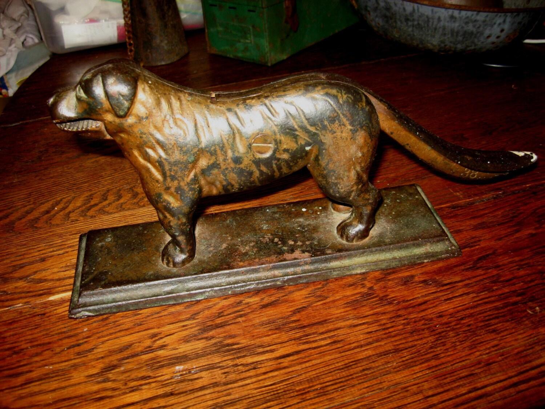 Antique Cast Iron Dog Nutcracker Signed Bailey Burrus Mfg Co