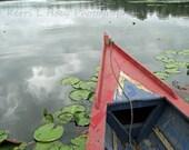 Oxbow Lake, Peru- boat- travel photography, 8X10