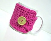 Coffee Mug Cozy in Hot Pink,  Coffee Accessories, Coffee Gift, Cup Cozy, Mug Cosy, Tea Cozy, Teachers Gift, Hostess Gift, Stocking Stuffers