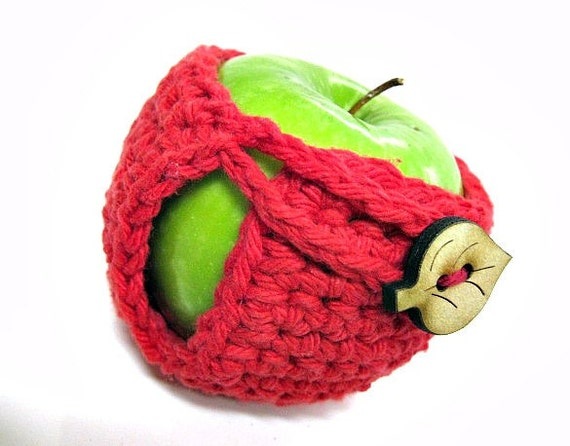 Bright Red Apple Cozy