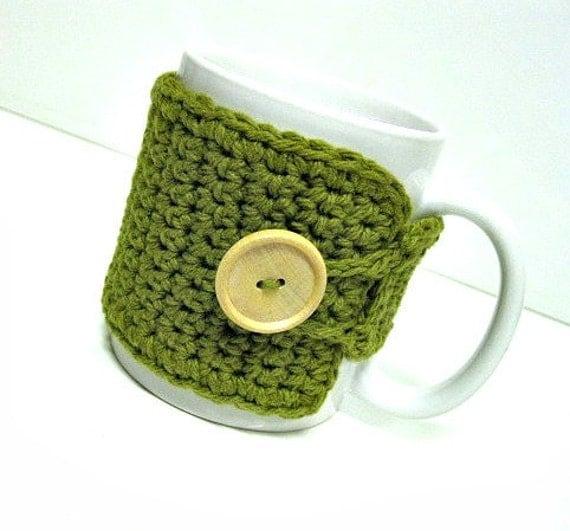 Coffee Mug Cozy in Avocado, Tea Cozy, Teachers Gift, Coffee Cozy, Coffee Cup Wrap, Coffee Lovers Gift, Coffee Mug Cozy, Coffee Cup Cozy