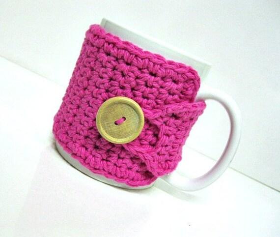 Coffee Mug Cozy in Hot Pink,  Coffee Accessories, Coffee Gift, Cup Cozy, Mug Cosy, Tea Cozy, Teachers Gift, Hostess Gift, Stocking Stuffers