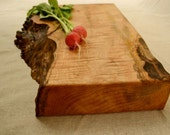 Burl Burst, Extra Thick, Natural Edge Wooden Cutting Board 256