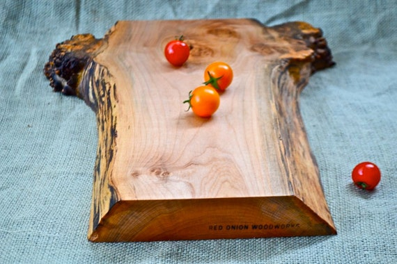 Burl Burst Cutting Board, Extra Thick with a Natural Wood Edge 353