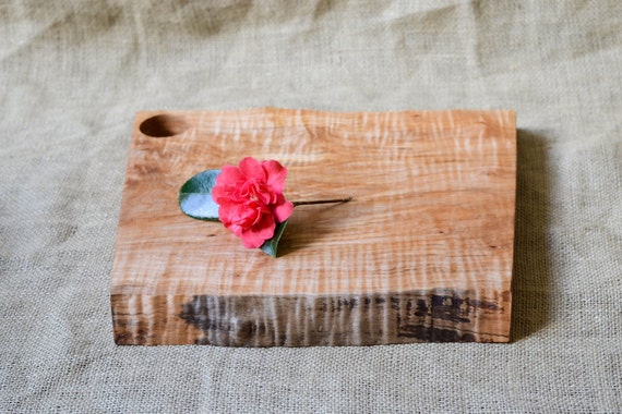 Discounted, Rustic Wood Cutting Board, Natural Edge Salvaged Maple 621, Ready to Ship