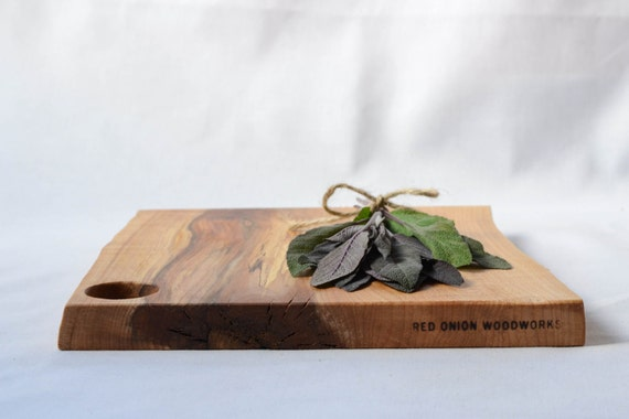 Natural Edge Wood Serving Board 644, Ready to Ship