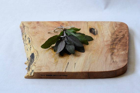 Woodland Cutting Board, Natural Edge Salvaged Wood 638, Ready to Ship