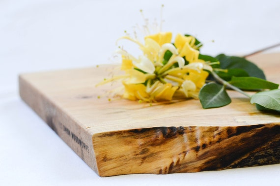 Organic Original, Natural Edge Salvaged Maple Serving Board 651, Ready to Ship