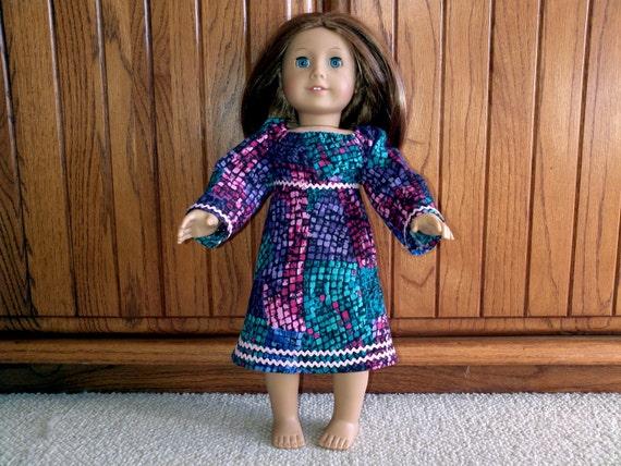 Peasant dress 18 inch doll dress jewel tone peasant dress