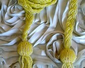 Yellow Iridescent Beaded Necklace