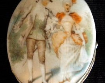 Beautiful Hand Painted Porcelain Pin