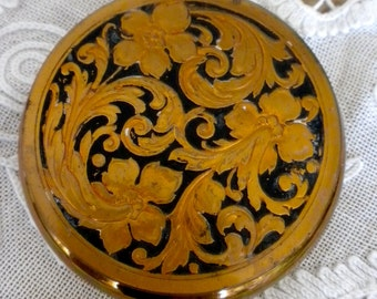 Art Deco Gold Compact