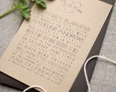 Faux Bois Orchard / Woodland Wedding Invitation - Sample - Eco friendly