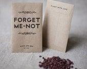 Printable Seed Pack Wedding Favors