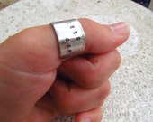 Cowboy Bebop Lets Jam, Custom Hand Stamped Ring, Personalized Jewelry, Gift for Fangirl, Gift for Best Friend, Anime Jewelry