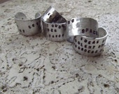 Personalized - Hand Stamped 12mm Aluminum Ring - Custom Stamping