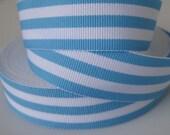Blue Striped Grosgrain ribbon 7/8 inch width lollipop ribbon