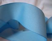 3 yards Light sea Baby Blue no shine Grosgrain Ribbon 1.5 1 1/2 inch