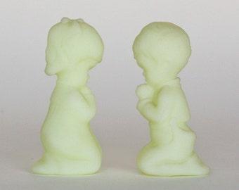 Fenton Glass Praying Boy and Girl