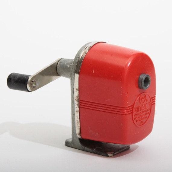 Red Apsco Midget Pencil Sharpener