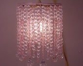 Beaded Lamp/Chandelier Pink Crystal Acrylic Beads