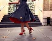 Sheer Elegance Tiered Chiffon and Tulle Crinoline, Tea Length Wedding Petticoat - 22-30 inches