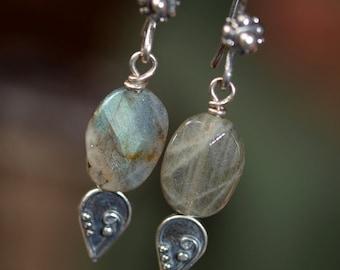 Labradorite Storm Earrings