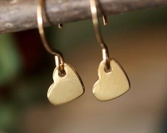 Simply Sweet Gold Heart Earrings
