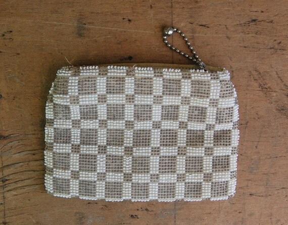 vintage CHECKERBOARD 1930s purse