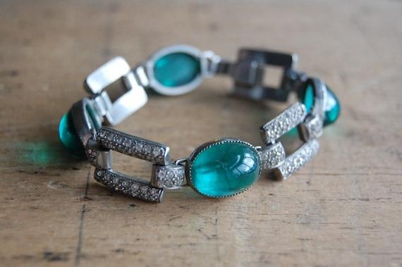 RESERVED /// vintage Art Deco bracelet / 1930s jewelry / A LA MENTHE
