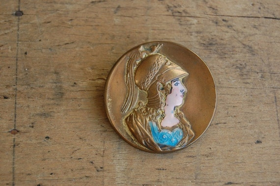 vintage brooch / goddess jewelry / 1930s / ROME