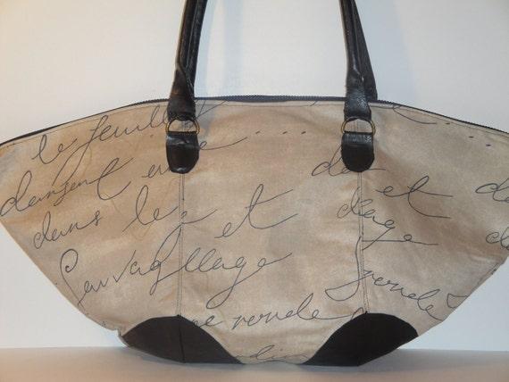 REIKO- Pen Pal print handbag