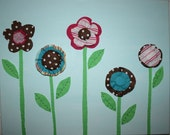3 Flower 3D Canvas Reserved for J Francis
