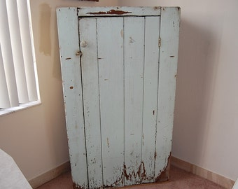 FARMHOUSE SHABBY CHIC 5 Ft. Cabinet / 60 Inches Tall / Shabby Chic Cottage Prairie Style Jelly Cabinet / Chippy Pale green Retro Daisy Girl