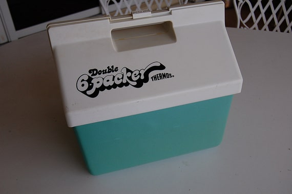 Retro Aqua Cooler Made by Thermos -Lets go to the Beach at Retro Daisy Girl