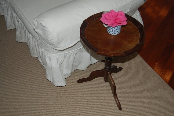Vintage Wooden Side Table Shabby Chic Cottage Style at Retro Daisy Girl