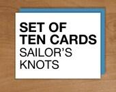 sailor's knots set / 10 cards
